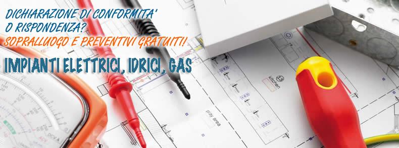 Dichiarazione conformità impianti elettrici, idrici, gas